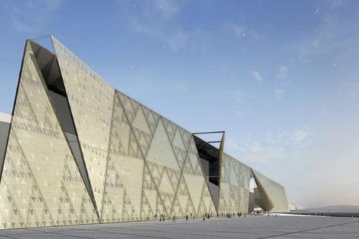 Entrada del Gran Museo Egipcio Foto Archivo