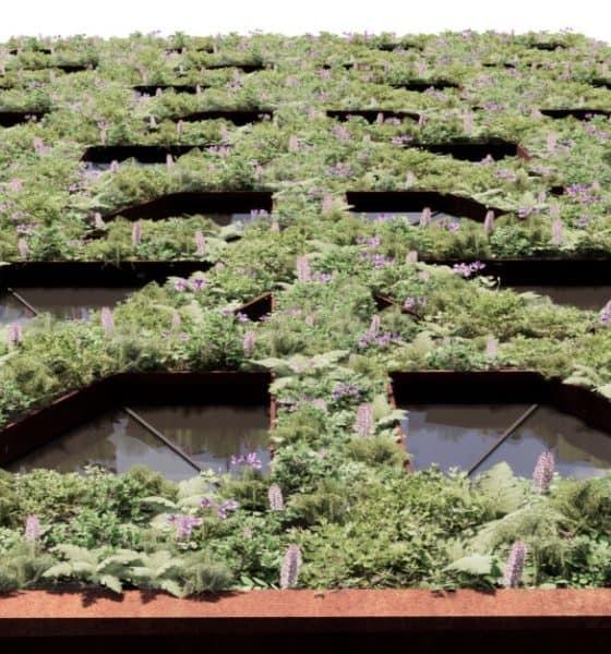 Fachada de 400 plantas del hotel Citicape House Foto Sheppard Robson