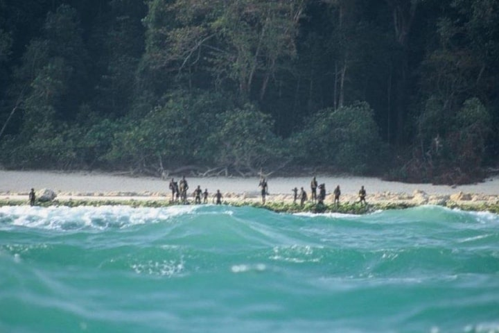 Foto lograda de Isla centinela del norte Foto Archivo