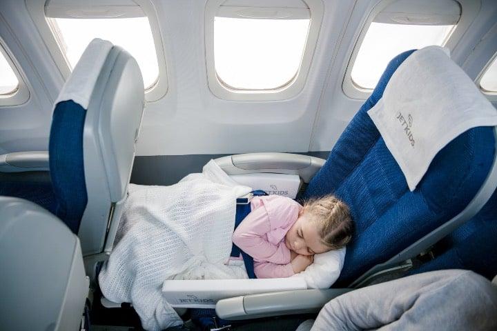 La comodidad es necesaria al viajar con niños Foto JetKids
