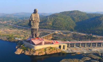 La estatua más grande del mundo. Imagen: Doordarshan National