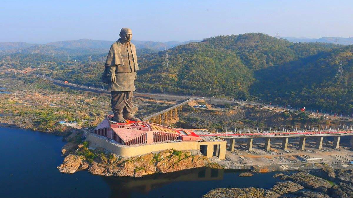 La estatua más grande del mundo. Imagen Doordarshan National