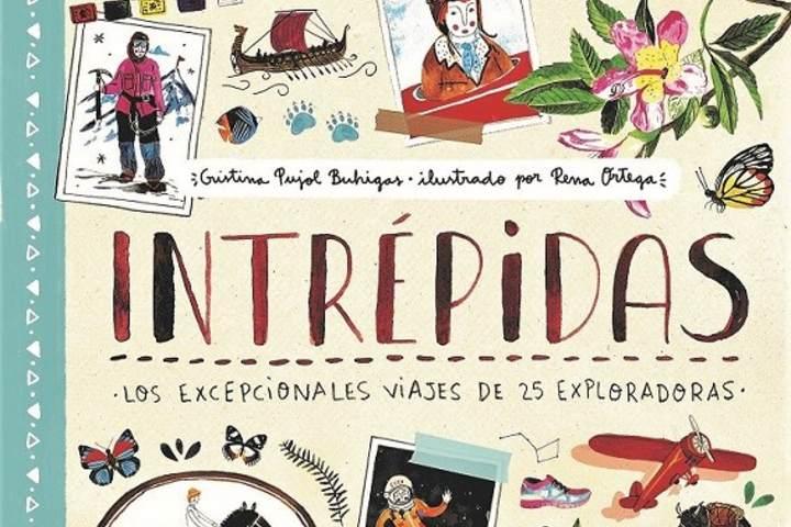 Libros para niños viajeros. Intrepidas. Foto hablando con letras