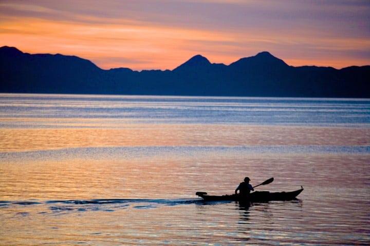 Práctica de kayak en Loreto Foto Archivo
