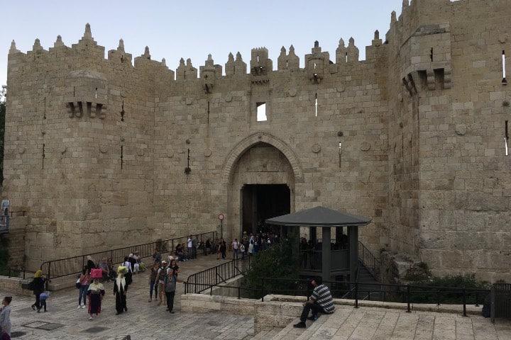 Puerta de Damasco, un lugar para investigar en Jerusalén Foto Donostiako Elizbarrutia