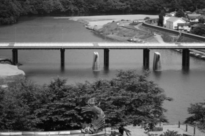 Río Hijikawa Foto Japón Hoppers