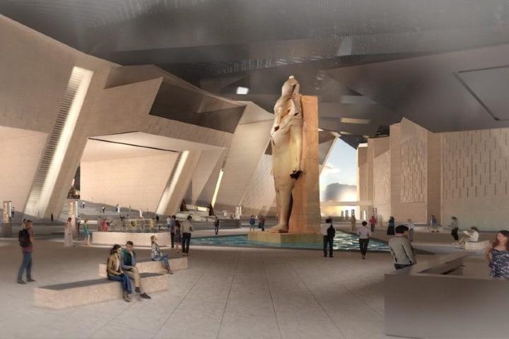 Simulación de personas en el Gran Museo Egipcio Foto Archivo