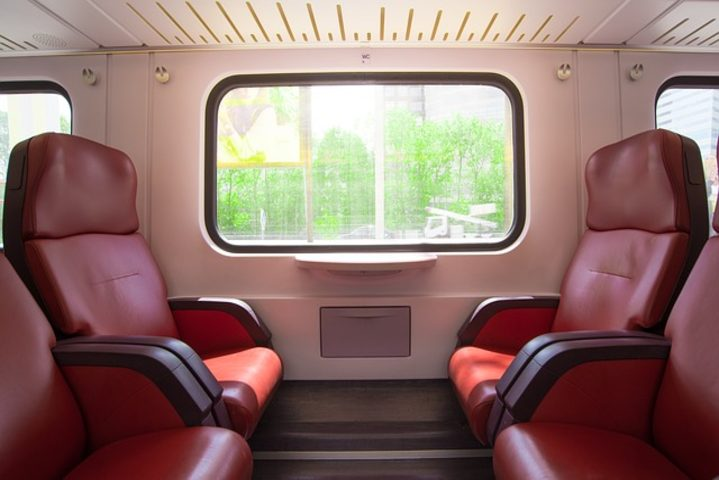 Viaje en tren por EUA. Asientos de viaje. Foto Rudy an peter Skitterians
