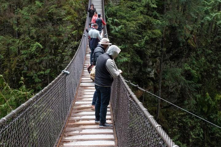 Visitar este puente colgante en Vancouver es gratis Foto Lynn Canyon Park