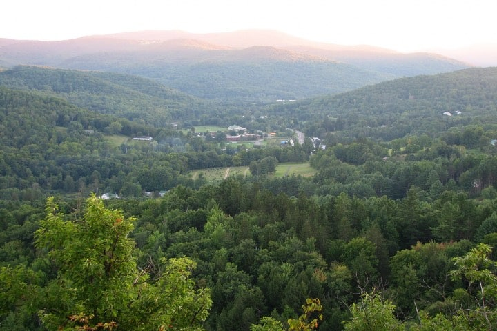 Vista desde las montañas de Woodstock Foto Archivo