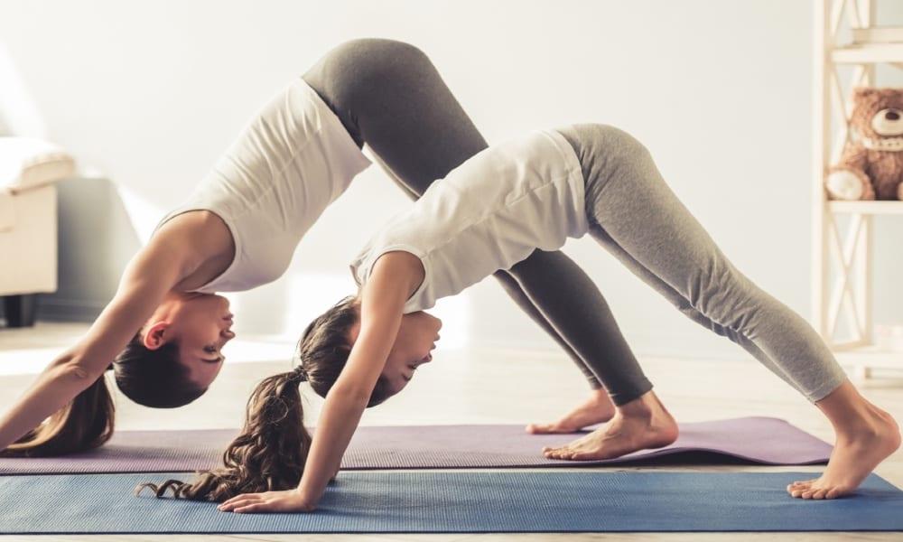 Yoga para niños Foto Archivo