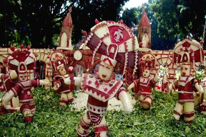 Estas piezas de arte se exhiben en esta festividad oaxaqueña Foto: El imparcial de Oaxaca
