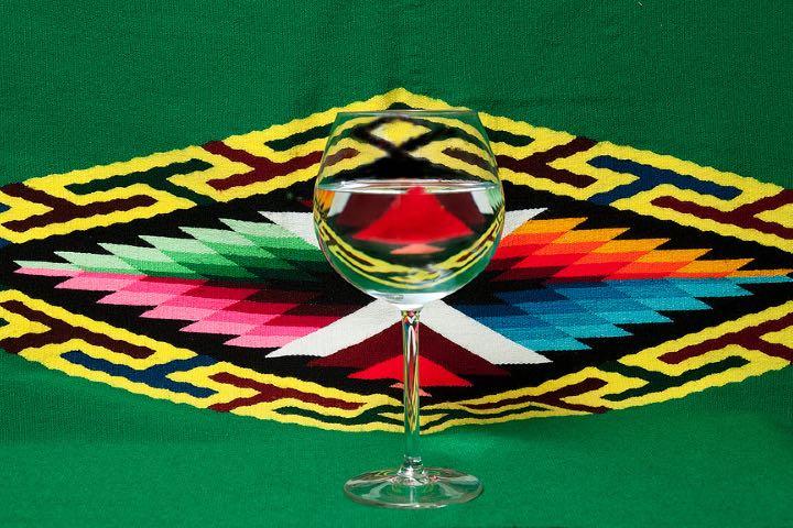 Arte del sarape, artesanía mexicana Foto drmf35