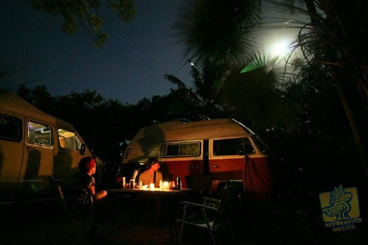 Campamento en la Reserva Sian Ka'an Foto: Authentico México