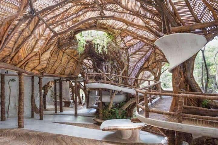 El hotel es eco friendly, estarás en contacto con la naturaleza Foto: Hotel Azulik