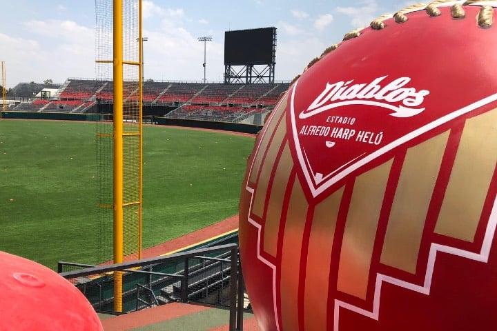 En las pelotas qué hay dentro del estadio puedes tomarte una foto del recuerdo Foto @HarpEstadio Twitter