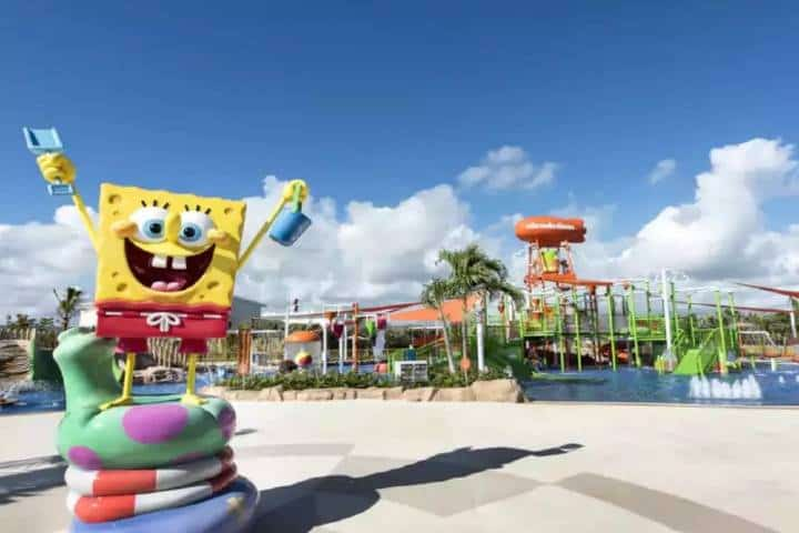 Entrada a albercas de Nickelodeon Hotels & Resorts Foto: Sipse.com