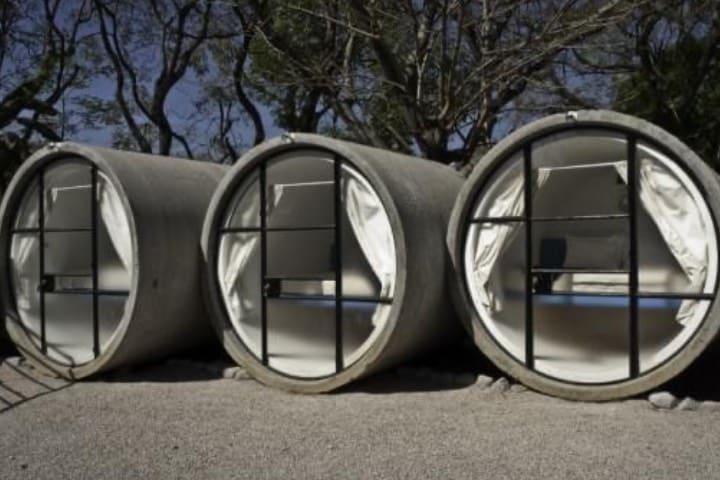 Habitaciones del Tubohotel Foto Luis Gordoa
