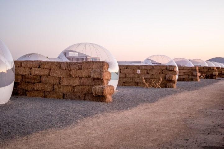 Habitaciones en forma de burbuja Foto Campera Hotel Burbuja