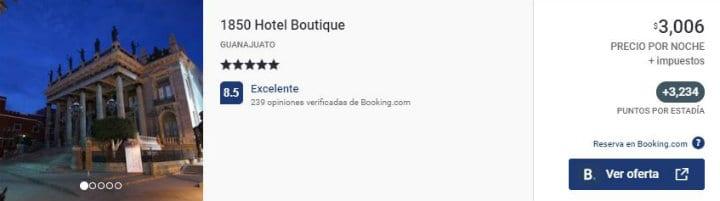 Hotel 1850 Guanajuato acumula Puntos Premier ok