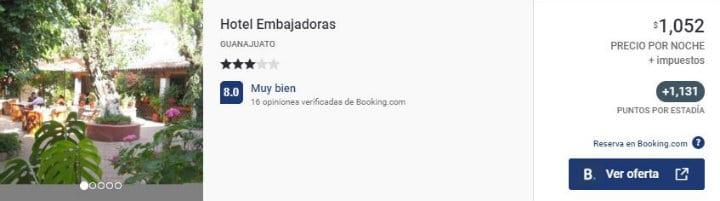 Hotel Embajadoras Guanajuato acumula Puntos Premier ok