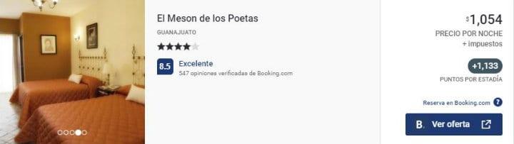 Hotel Meson de los Poetas Guanajuato acumula Puntos Premier ok