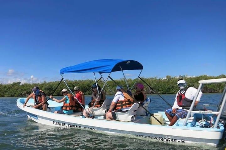 Paseos en lancha en la Reserva Sian Ka'an Foto: Blue Caribe