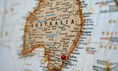Mapa Australia. Foto: Joey Csunyo