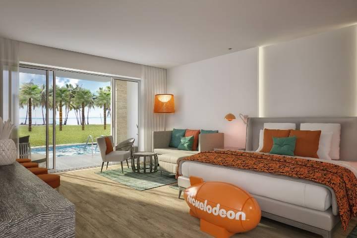 Las habitaciones de Nickelodeon Hotels & Resort tendrán temáticas Foto: Nick ALive!