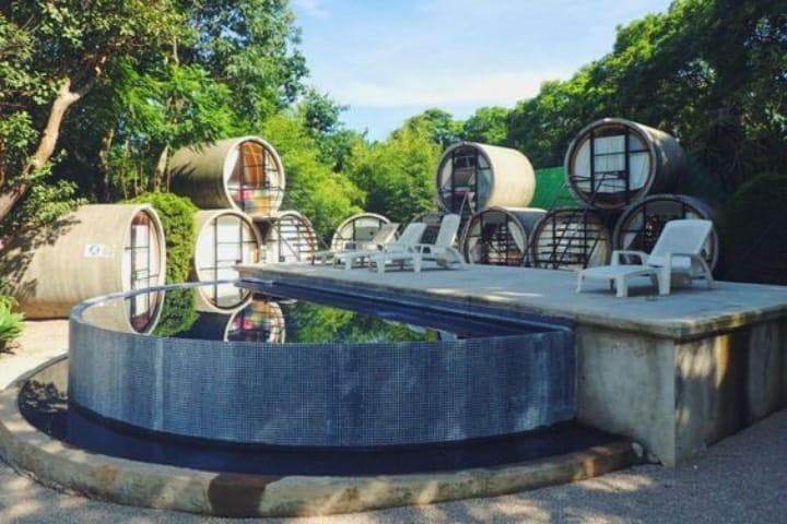 Podrás disfrutar de las instalaciones del Tubohotel de Tepoztlán Foto Pinterest