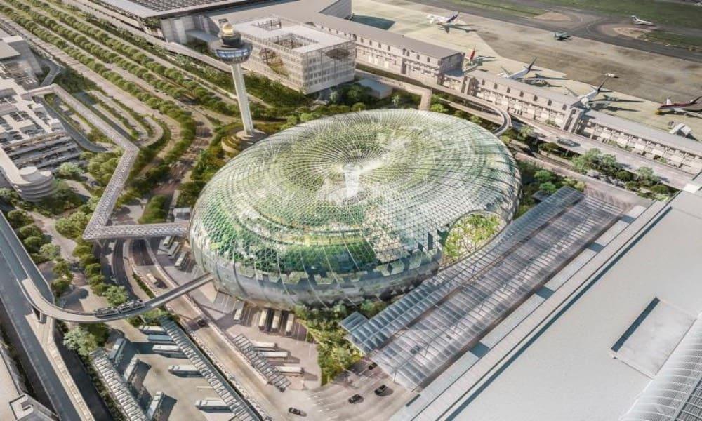 Aeropuerto Changi de Singapur Foto Consejero de la Construcción