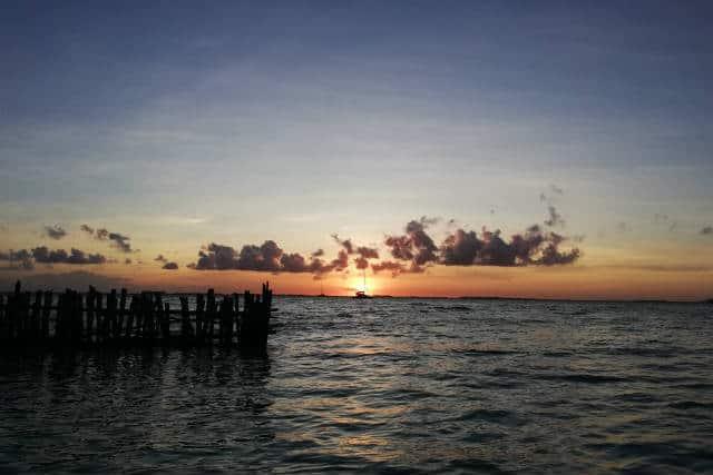 Atardecer en la Riviera Maya - Foto Luis Juárez J