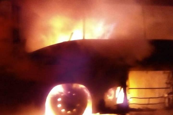 Autobús incendiado. Foto: Archivo