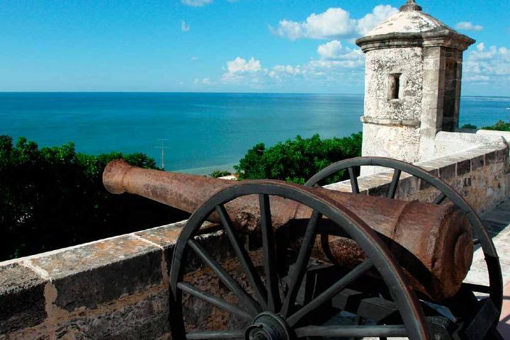 Cañones de Campeche que representan su historia Foto: Reporte Lobby