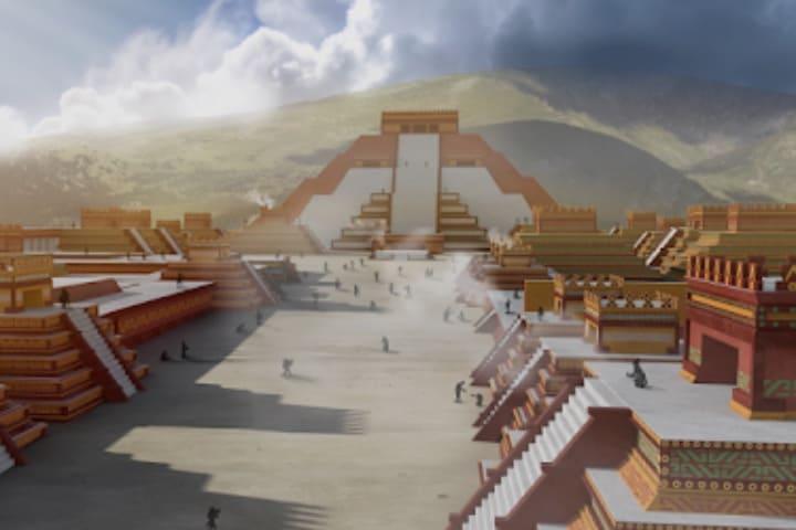 Captura de pantalla de la app Explore Teotihuacán Foto Explore Teotihuacán