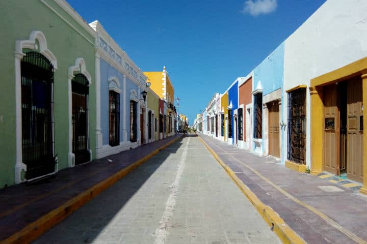 Casas de Campeche - Foto Luis Juárez J