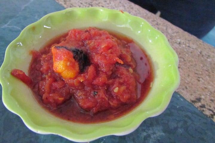 Chiltomate para completar la receta de papadzules Foto: Al Interior del Estado