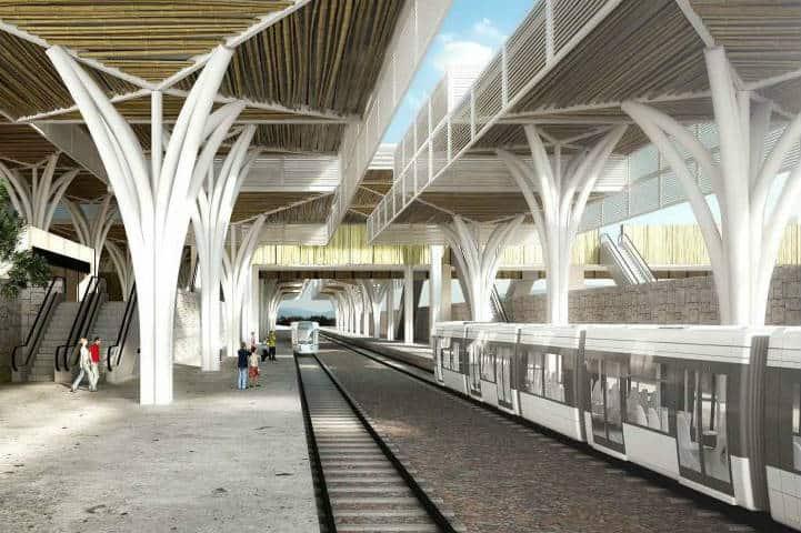 Estación Puerto Morelos (Tren Maya) - Foto FONATUR