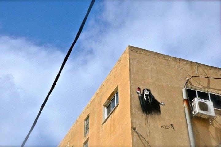 Expresión de Arte Urbano de Tel Aviv Foto Sand Gold
