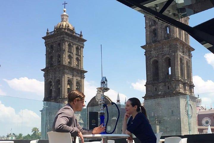 Una de las mejores vistas te puede ofrecer este hotel Foto: El Encanto de Puebla
