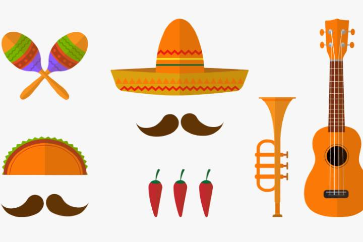 Instrumentos del mariachi Foto: Clipart Key Archivo