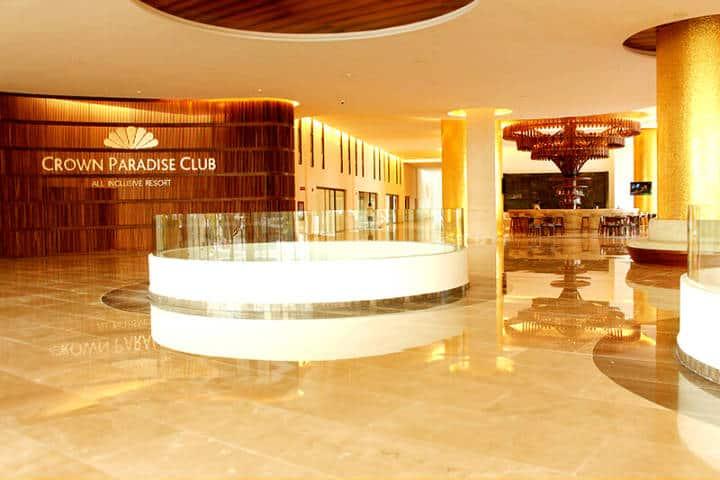 Lobby del hotel Foto: Crown Paradise Club Riviera Maya