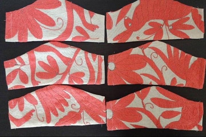 Los diseños de estos cubre bocas con bordados de Tenango son arte Foto Arte Mexikaj Instagram