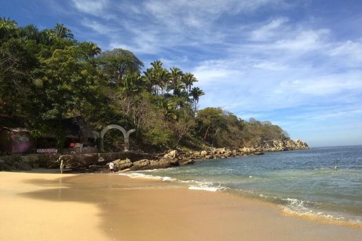 Playa Mismaloya, sede de películas que se grabaron en Puerto Vallarta Foto Mapio
