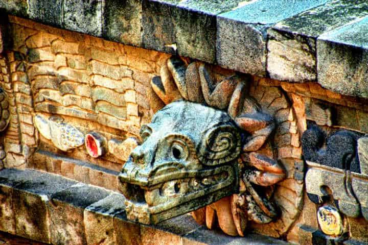 Quetzalcoatl es partícipe de la leyenda del conejo en la luna Foto: Andrés Alvarado