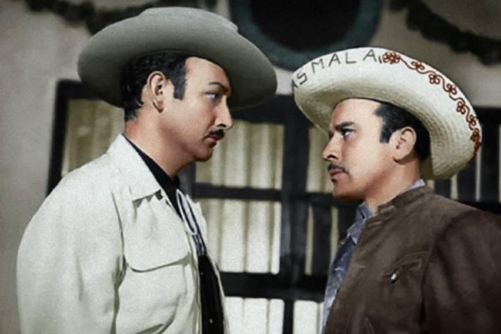 Jorge Negrete y Pedro Infante. Foto: Debate Archivo