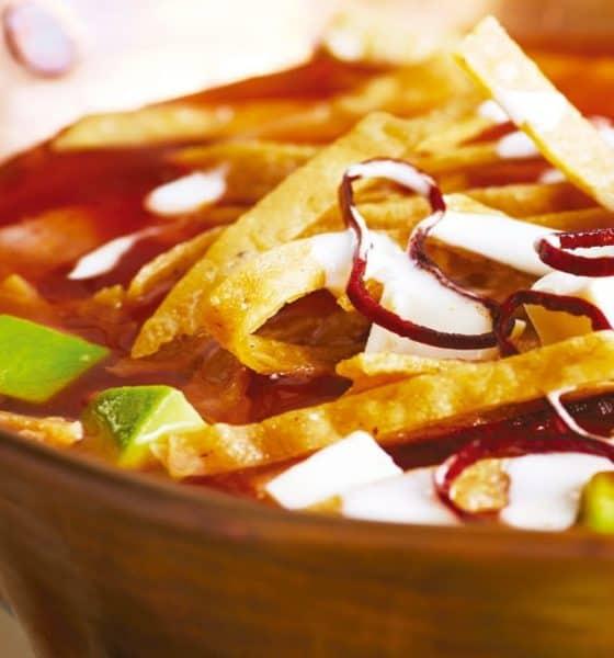 Sopa azteca Foto: Cocina Fácil