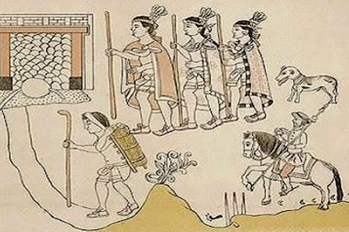 Tlaxcaltecas. Foto Historia de México.