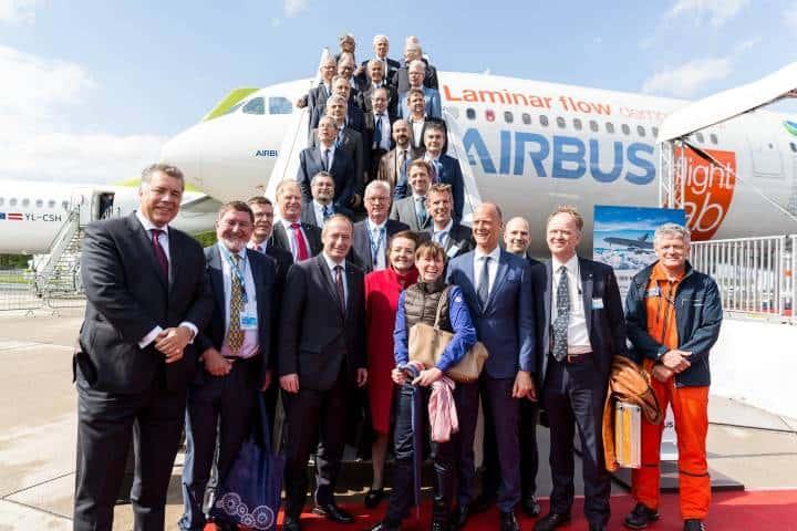 Trabajadores de la empresa Foto: Airbus