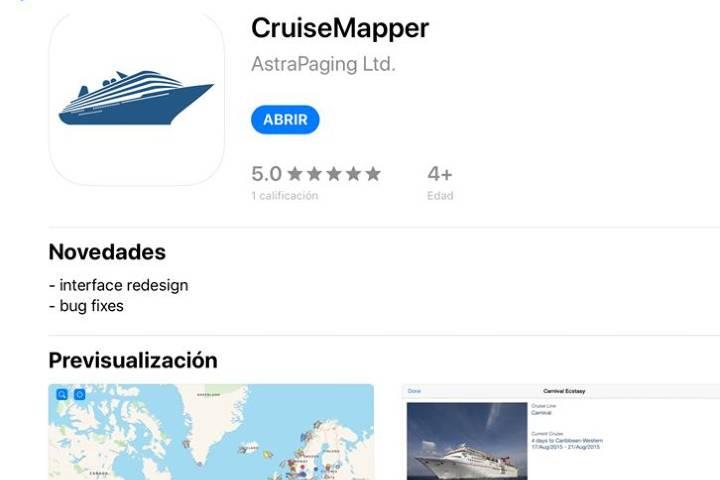 app cruise mapper Foto Archivo